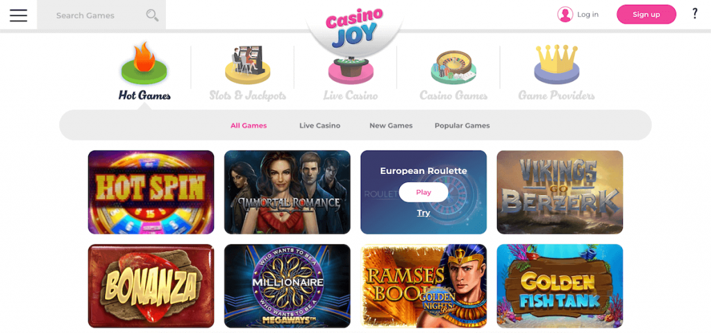 casino joy games